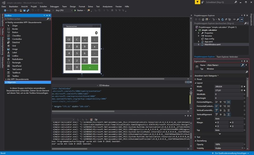 Visual Studio - Toolbox