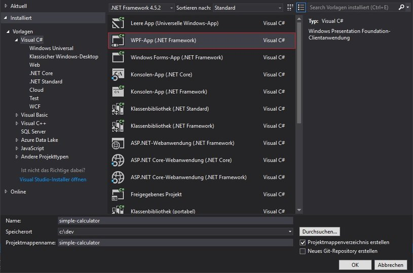 Visual Studio - WPF Application